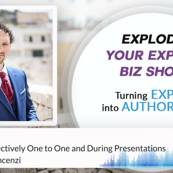 Episode #132 How To Sell Effectively One to One and During Presentations With Simone Vincenzi